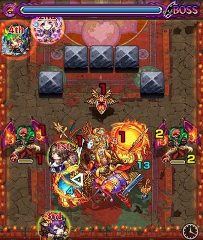 阿修羅攻略のステージ画面